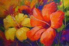 pintura de flores hermosas