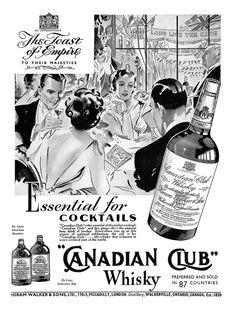 1937 Canadian Club ad