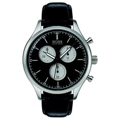 Free delivery on eligible orders of or more. Hugo Boss Watches, Watches For Men, Hugo Boss Man, Stainless Steel Case, Free Delivery, Omega Watch, Chronograph, Black Leather, Accessories