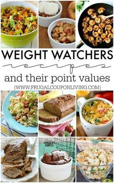 Weight Watchers Recipes and their PointsPlus and SmartPoints totals. Weight Watchers dinners, Weight Watchers desserts, Weight Watchers snacks.