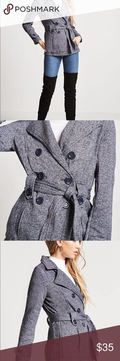 Women's Navy Double Breasted Coat Size Large Women's Navy Double Breasted Coat Size Large   Bust- 38-39 inches  Waist- 30-31 inches  Hips- 42-44 inches Ambiance Jackets & Coats Pea Coats