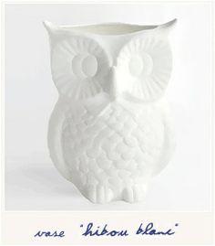 Hibou blanc  [Vase] 28.00€