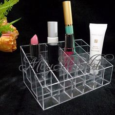 MM 24 Trapezoid Lipstick Makeup Cosmetic Organizer Holder Case Display Stand #NOBrand