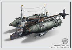Steampunk Ship, Arte Steampunk, Robot Concept Art, Weapon Concept Art, Plane Design, Fantasy Weapons, Medieval Art, Fantasy Landscape, Armored Vehicles