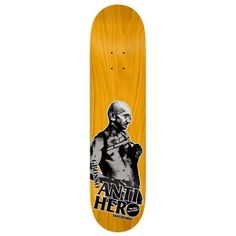 Anti Hero Skateboards <br> Anti Hero Jeff Grosso Passafist Deck <br> 8.4x32 - Assorted Stains