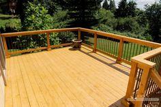 Cedar decking & western red cedar decking from Rick's custom fencing & decking. Looking for cedar deck? Find all you need including clear cedar decking options!