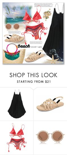 """""""My Summer Outfit-Beach Coverups"""" by christinacastro830 ❤ liked on Polyvore featuring O'Neill, Balmain, MINKPINK and House of Holland"""
