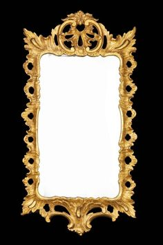 An early Chippendale period rococo gilt wood Mirror with pierced border, with an elaborately swept frame with 'C' scrolls to the top. - Art & Antiques Online - CINOA