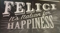 Chalk sign for Felici on Rundle St Adelaide