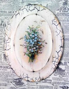 Inna Beketa Decoupage On Canvas, Decoupage Plates, Decoupage Furniture, Decoupage Vintage, Country Crafts, Rose Art, Bottle Crafts, Painting On Wood, French Vintage