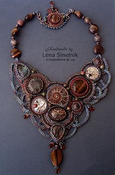 beaded necklace...I never have anywhere to wear these but how cool to use some of these as lamp shade decor ?????!!!!