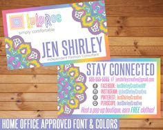 LuLaRoe Business Cards, Mandala, LuLaRoe Floral Business Cards, Customized, Home Office Approved, Personalized Digital Printable File