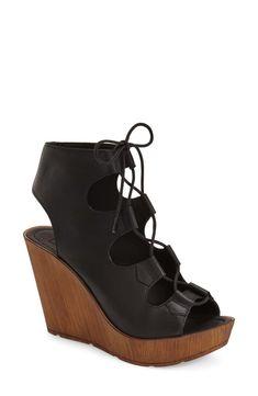 Topshop 'Wanda' Ghillie Wedge Sandal (Women)