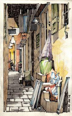 JR Sketches: Vietnam - January 2014 - #3