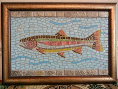 Mosaic rainbow trout by MosaicMarie on Etsy, $290.00