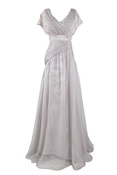 Sunvary Fancy Lace and Chiffon Mother of the Bride Dress Long Silver Bridesmaid Party Prom GownsUS Size 2- Silver Sunvary http://www.amazon.com/dp/B00MYOOD9Y/ref=cm_sw_r_pi_dp_4gXmub0M1F2WJ