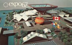 Mid-century fashion, vintage pop culture and retro cool. from Expo 67 and beyond. Expo 67 Montreal, Montreal Canada, Famous Sculptures, Lounge, World's Fair, Pattern Illustration, Paper Models, Retro Futurism, Graphic Art
