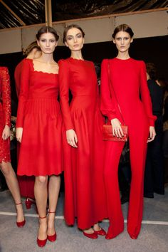 Red @ Valentino Backstage Fall Winter  2012.