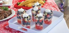 (Zoe would love this)  Sandra Lee Watermelon-Blueberry Layered Salad- Watermelon-Blueberry Layered Salad