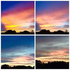 Same morning. Different colors. All beautiful. Just like my friends. Have a kick ass day today!