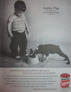 1957 Gaines Dog Menu Dog Food Vintage Advertisement by RelicEclectic on Etsy, $7.00