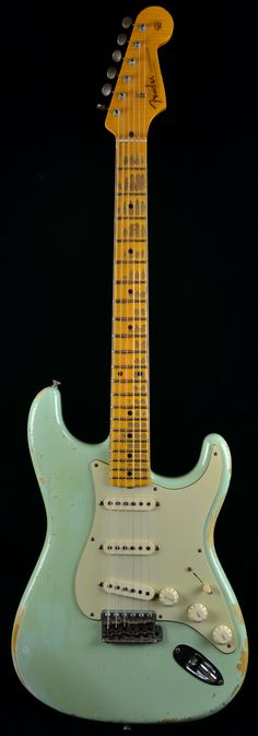 Wild West Guitars : Fender Custom Shop 1956 Heavy Relic Stratocaster Surf Green - AA Flame Neck