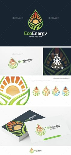Eco Energy  - Logo Design Template Vector #logotype Download it here: http://graphicriver.net/item/eco-energy-logo-template/15305798?s_rank=61?ref=nexion