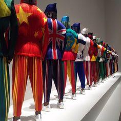 "ISSEY MIYAKE, The National Art Center, Tokyo, Japan, ""VIRTUAL OLYMPIC"", pinned by Ton van der Veer"