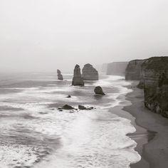 A very misty Sunrise The Twelve Apostles - Great Ocean Road Victoria Australia #travel #blackandwhite #instagood #melbourne #australia #iamnikon #d600 #sunrise #12apostles by gray_titude http://ift.tt/1ijk11S