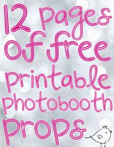 Photobooth props free download and tutorial | Pure Sweet Joy