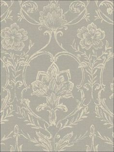 Sheer Fabric Damask - KC1820 from French Dressing book totalwallcovering.com