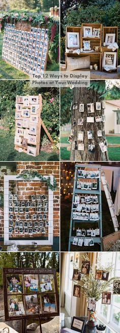 top 12 creative diy photo display wedding decoration ideas #weddingdecorations