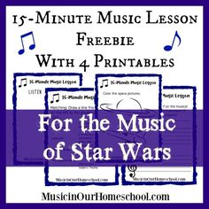 15-Minute Music Lesson Freebie with 4 Printables