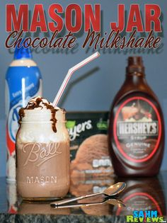 Ditch your blender pitcher and create individualized mason jar milkshakes. - SahmReviews.com #BountyatWalmart
