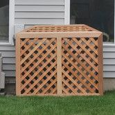 something like this around air conditioner.Found it at Wayfair - H x W x D Air Conditioner/Generator Enclosure Air Conditioner Screen, Generator Shed, Garbage Shed, Outdoor Lighting, Outdoor Decor, Outdoor Ideas, Outdoor Stuff, Outdoor Fun, Air Conditioning Units