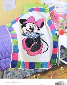 Minnie Mouse Crochet Afghan Patterns | Mickey & Minnie Afghans Crochet Patterns Book Disney - Afghans