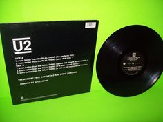 """U2 – Even Better Than The Real Thing - Remixes Vinyl 12"""" EP Record 1992 EX+ #ElectronicaPopRock"""