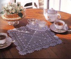 Crocheted square doily Nice edging...GREAT corner diagram