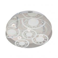 LORE Led Flush Ceiling Lights, Ceiling Spotlights, Ceiling Lamp, Circular Pattern, Dar Lighting, Lighting Online, Led Lampe, Chrome Finish, Polished Nickel