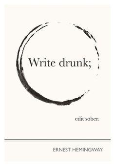 Dissertation advice from Ernest Hemingway - worked for my undergrad!