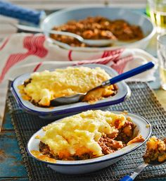 Individual cottage pies: Is there anything more comforting and satisfying come dinnertime than a cottage pie? Flavour-filled mince topped with a soft and creamy mash...