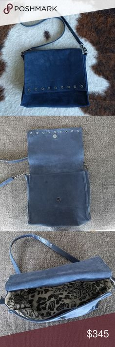 Longchamp Blue Suede Paris Rocks Crossbody Pursw Brand new with tags! Purchased retail at $640. Longchamp Bags Crossbody Bags