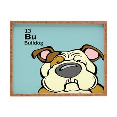 Angry Squirrel Studio Bulldog 13 Rectangular Tray | DENY Designs Home Accessories