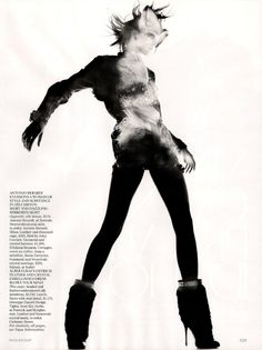 Raquel Zimmermann by Nick Knight for Vogue UK November 2010, Refined Rebel 11