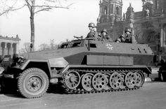 SdKfz. 251 ausf. A halftrack vehicle at the Lustgarten in Berlin, Germany, 1940.
