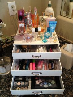 Makeup Organizer.....I like that its not clear but I need black