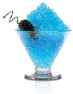 BIG BLUE:1 1/2 Skyy vodka 2 oz. Lime juice 1/2oz. Triple sec 1 oz. Simple syrup 1/2 oz. Blue curacao 1/2 oz. Water 4 blackberries