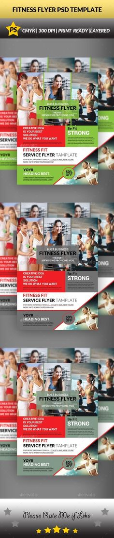 #Fitness #Flyer - #Sports #Events Download here: https://graphicriver.net/item/fitness-flyer/14652686?ref=alena994