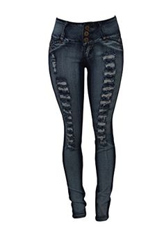 Colombian Style Skinny Jeans in Medium Wash Bleached Denim, Curvy Style, Curvy Fashion, Skinny Jeans, Medium, Pants, Clothes, Trouser Pants, Outfits
