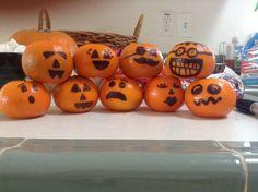 Healthy pumpkin treats for the kids! Cuties